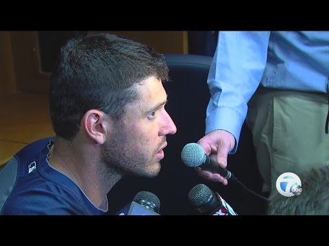 Ian Kinsler and Torii Hunter on the Tigers' Opening Day win