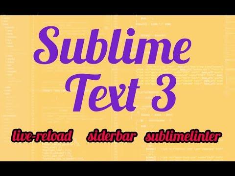 sublimetext-tutorial -livereload-sublimelinter-package control