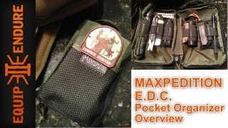 Mini Survival Kit, Maxpedition EDC Organizer by Equip 2 Endure