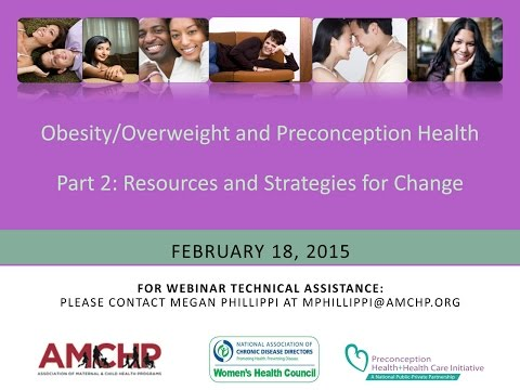 AMCHP Webinar: Obesity/Overweight and Preconception Health, Part 2