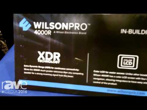 CEDIA 2016: Wilson Electronics Features WILSONPro 4000R Signal Booster for Up to 100,000 Square Feet