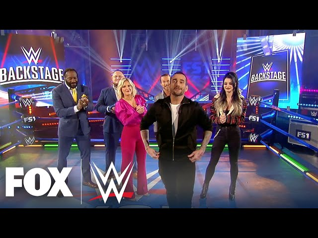CM Punk makes his surprise debut on WWE Backstage | WWE BACKSTAGE | WWE ON FOX thumbnail