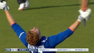 Jonny Bairstow hits 83 not out - England win New Zealand ODI Series
