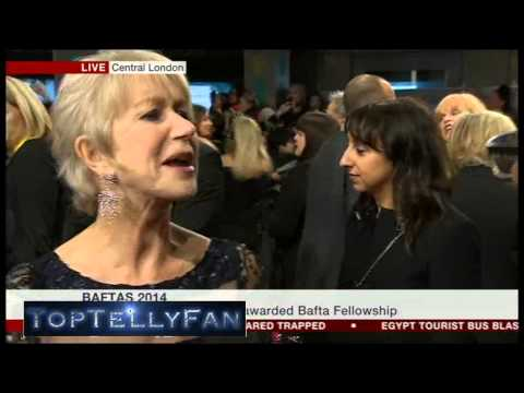 Dame Helen Mirren (BAFTA Fellowship Winner) - BAFTA 2014 red carpet interview (BBC News, 16.2.14)
