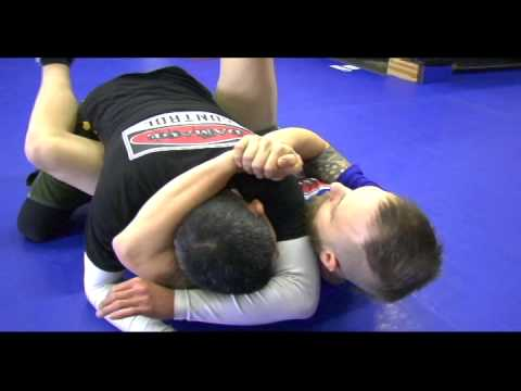 Arm Triangle From Guard: Sweep to Kimura Set Up