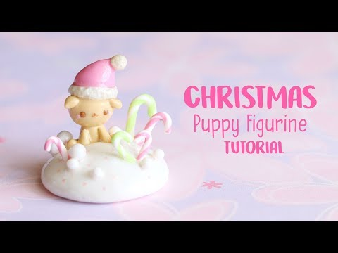 Christmas Puppy Figurine│Polymer Clay Tutorial