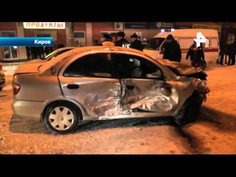 Страшная авария на одном из перекрестков в Кирове