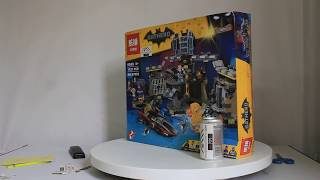 Mở hộp Lepin 07052 Lego The Batman Movie 70909 Batcave Break-In giá cực hot