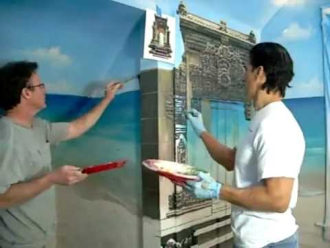 Beach Mural Painting Denver