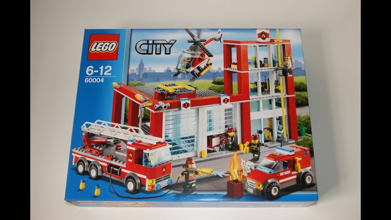 Lego City 2013 - 60004 Fire Station Stop motion review - YouTube