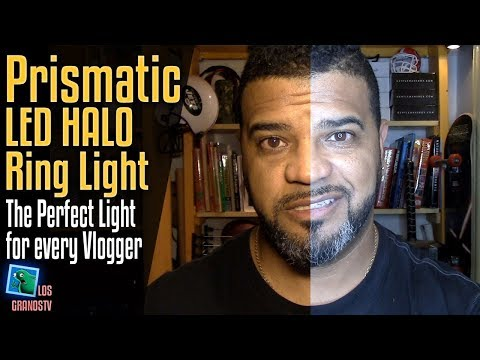 Prismatic LED Halo with Light Stand Weighted Desk Stand 💡 : LGTV Review