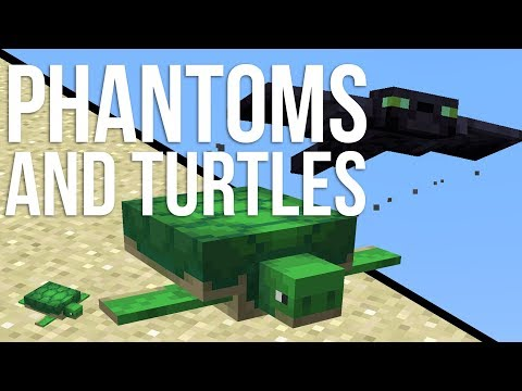 New Turtle and Phantom Mob in Minecraft! (Snapshot 18w07a)