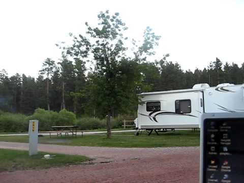 Hill City SD KOA campsite 8 27 11.avi