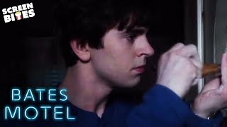 Norman Bates Spies His Mother Having Sex | Bates Motel | SceneScreen