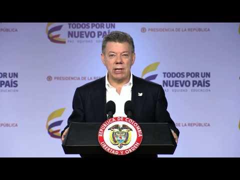 Declaración del Presidente de la República de Colombia, Juan Manuel Santos - 20 de febrero de 2015