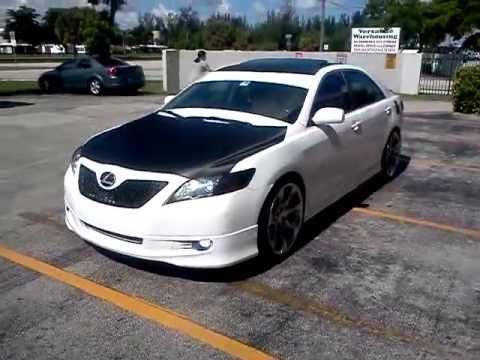 Toyota Camry Carbon Fiber Hood Roof Trunk Grill Youtube