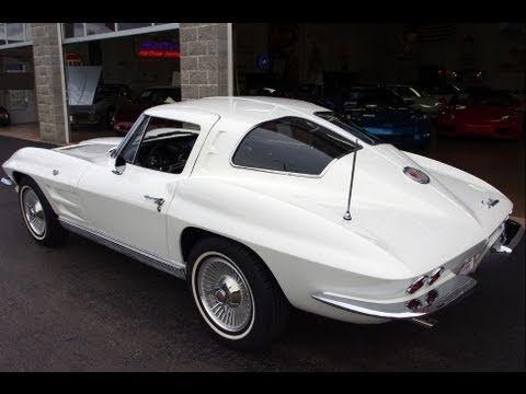 1963 Chevrolet Corvette Split Window 340 HP 327 V8 YouTube