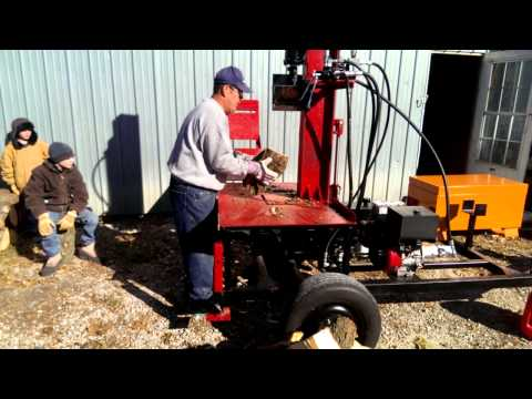 Homemade Vertical Log Splitter with Log Lift