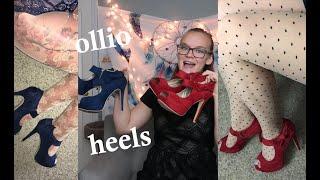 Trying on Ollio heels