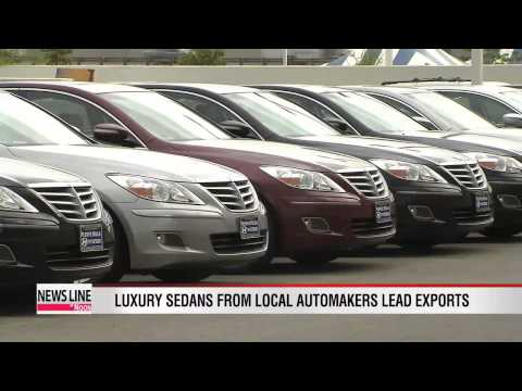 Korea's auto exports surge on luxury sedan sales