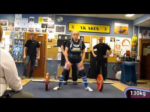 91 Year Old Weightlifter Performs 130k Deadlift