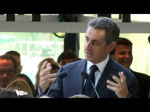 Nicolas Sarkozy à la plage de l'Isle-Adam