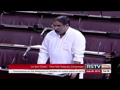 Remarks by Anand Sharma on clarifications on the statement by Minister on India's stand on WTO