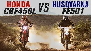2019 Honda CRF450L vs Husqvarna FE501