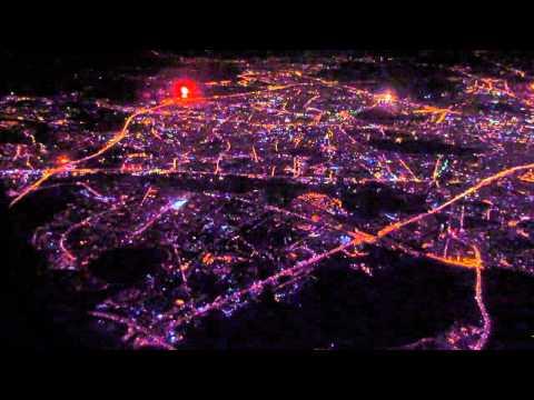 Салют в Москве в честь присоединения Крыма к России (вид из самолета)