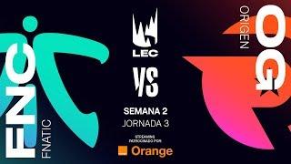 FNATIC VS ORIGEN | LEC | JORNADA 3 | Summer Split [2019] League of Legends