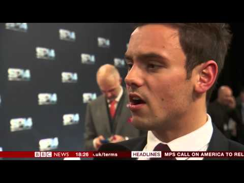 Tom Daley Red Carpet Interview - Sports Personality Of The Year Awards 2014