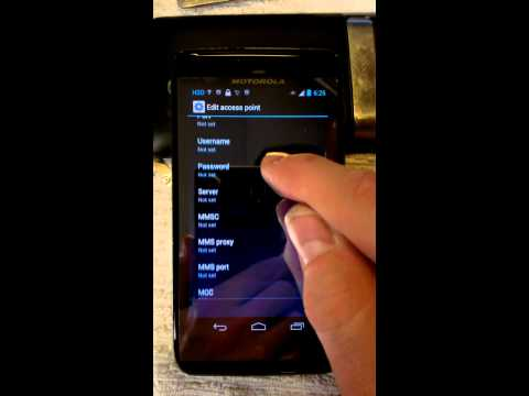 Motorola MB886 (Atrix HD) APN H2O (Android 4.1.1)