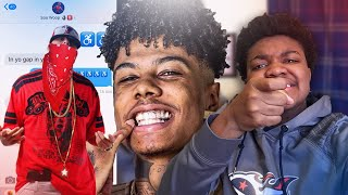"""Pranking A BLOOD With BLUEFACE """"BLEED IT"""" Lyrics (GONE VIOLENT)"""