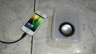 Amplificador de som caseiro (caixa de som para telefone)
