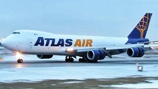 Atlas Air Boeing 747-8F [N854GT] RWY 28C Landing - Chicago O'Hare Plane Spotting [01.16.2013]