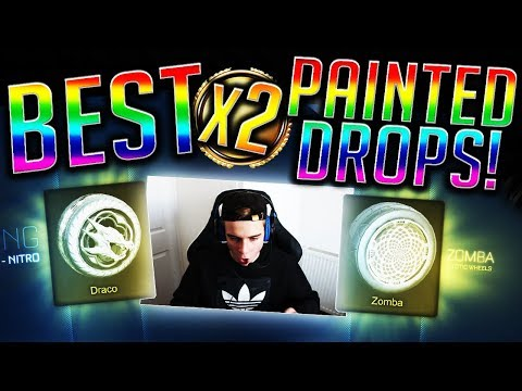 BEST x2 Painted Drops Crate Opening & Trade Ups! PAINTED Zombas & MORE! (Rocket League)