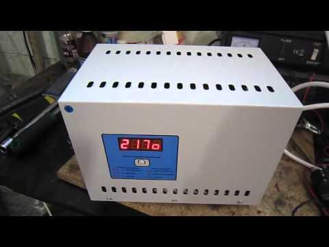 Пример работы симисторного стабилизатора напряжения Normic (Нормик) 3,3 кВт