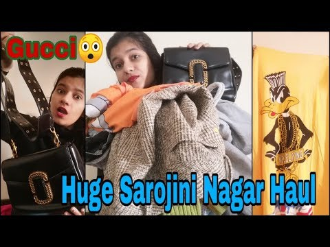 Sarojini Nagar Haul | Winter Edition | I Got Moschino, H&M, Gucci | Varshika Singh