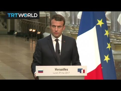 Macron, Putin hold talks on Syria, Ukraine