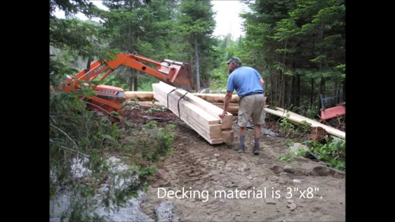 building a driveway and bridge in vt youtube. Black Bedroom Furniture Sets. Home Design Ideas