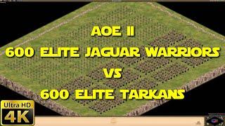 Age of Empires II - 600 Elite Jaguar Warriors vs 600 Elite Tarkans (4K)
