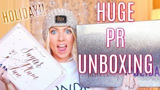 HUGE PR UNBOXING | Urban Decay Heavy Metal Holiday, Too Faced Sugar Plum Fun & Much More!