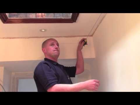 Plaster Coving Installation - Measuring Up Before Fixing Cornice