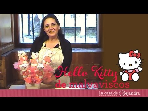 Hello Kitty de malvaviscos DIY Hello Kitty marshmallow