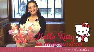 Hello Kitty de malvaviscos DIY Hello Kitty marshmallow