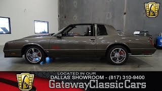 1987 Chevrolet Monte Carlo SS #387-DFW Gateway Classic Cars of Dallas