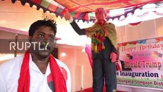 Video: Hindu takes his Donald Trump God worship to the next level - Ruptly