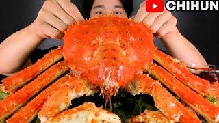 GIANT KING CRAB🦀 EATING SHOW *MOST DELICIOUS SEAFOOD MUKBANG! (WITH PEPPER OIL SAUCE)