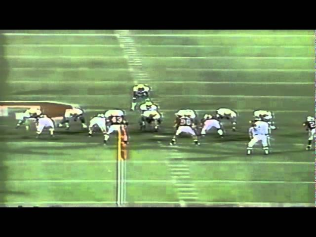 Oregon RB Saladin McCullough 27 yard gain on screen pass vs. Stanford 9-27-1997