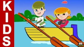 Row Row Row Your Boat | Kids Songs & Nursery Rhymes With Lyrics (English Language)